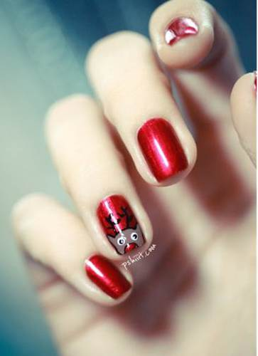 Le nail art red & rennes