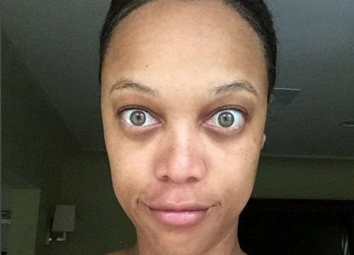 stars sans make-up Tyra Banks