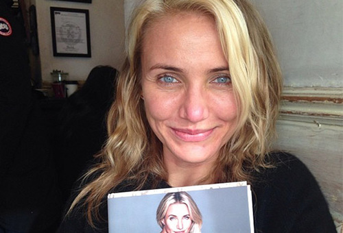 stars sans make-up cameron diaz