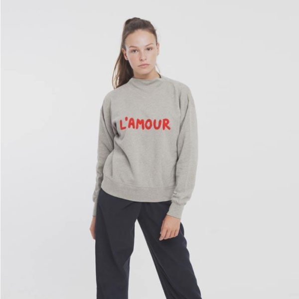 "Sweat ""L'amour"" en coton bio Thinking Mu"
